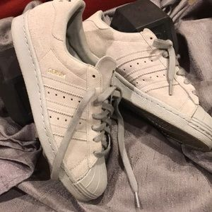 Suede Gray Shell Toe Adidas